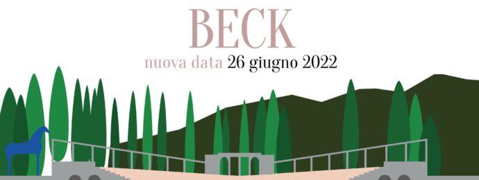 Nuova data concerto Beck - Anfiteatro del Vittoriale